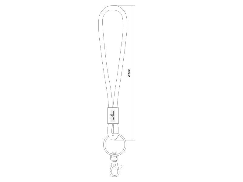 cord privezak za kljuceve crni makart