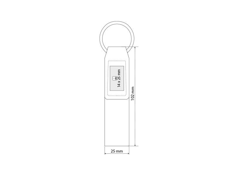 belt privezak za kljuceve crni makart