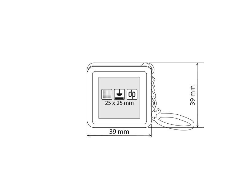 mile plasticni privezak za kljuceve sa metrom 1m crveni makart