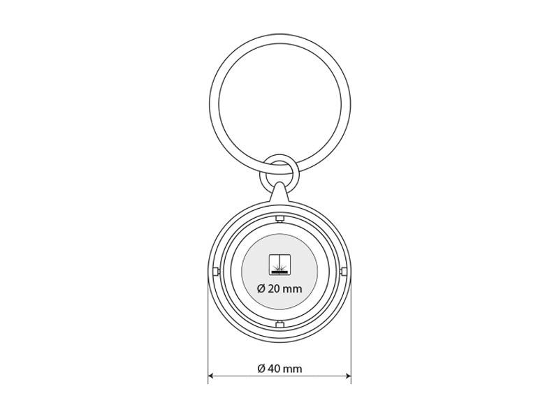 anello metalni privezak za kljuceve plavi makart