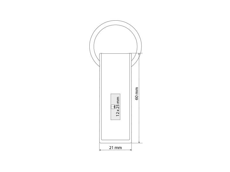diego metalni privezak za kljuceve sivi makart