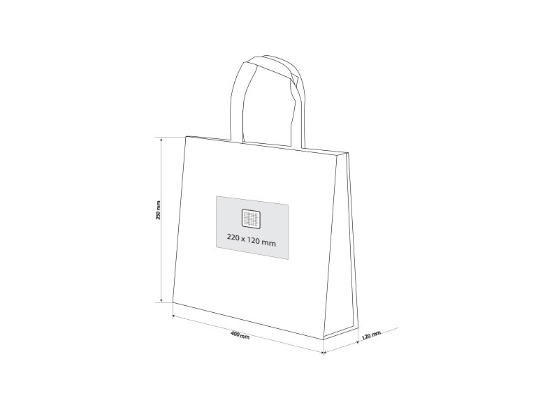mariposa biorazgradiva laminirana torba za kupovinu bela makart