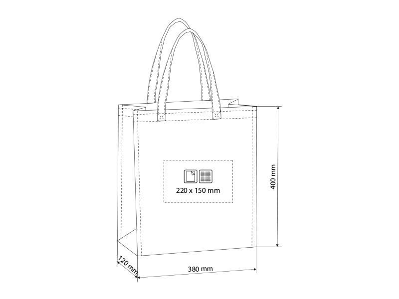 marketa biorazgradiva torba za kupovinu braon makart