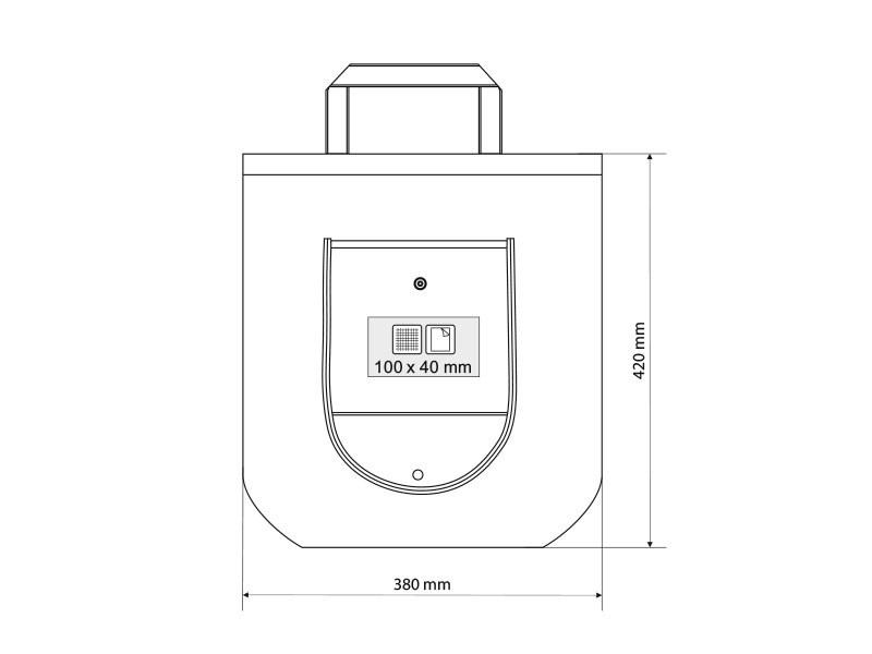 packeta biorazgradiva torba za kupovinu bela makart