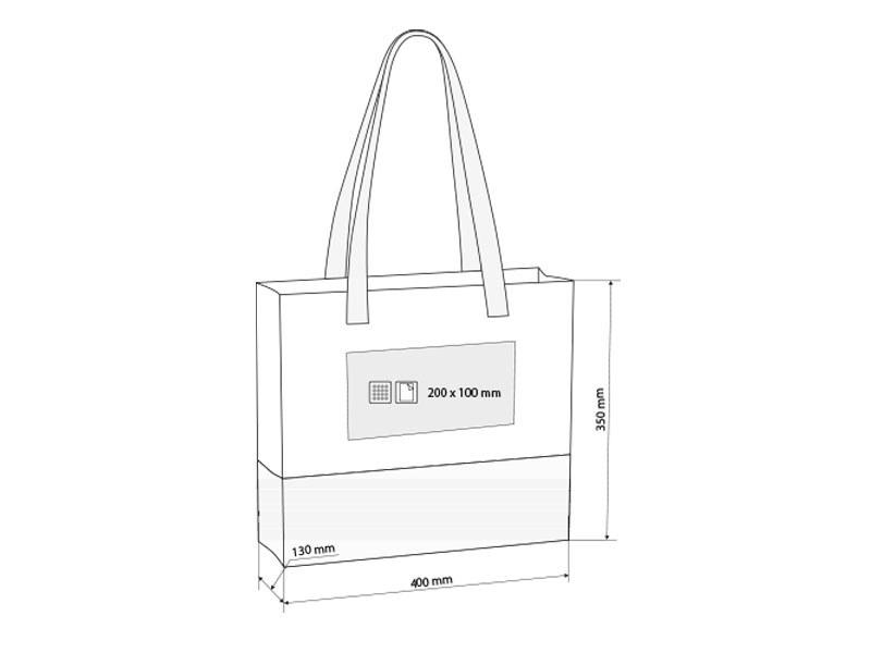 barbara biorazgradiva torba za kupovinu i plazu plava makart