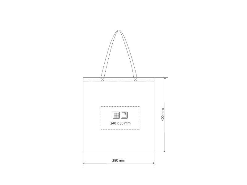 borsa biorazgradiva torba za kupovinu plava makart