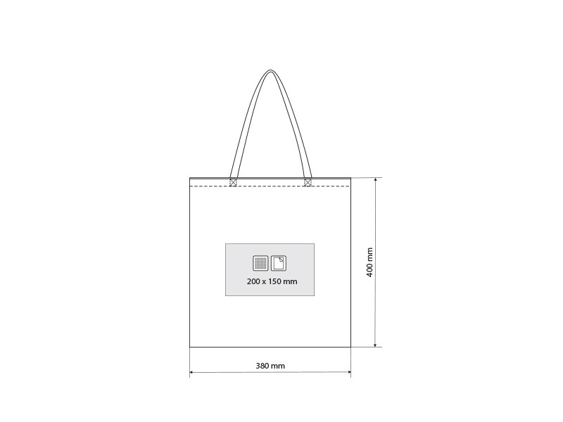 borsa biorazgradiva torba za kupovinu bela makart