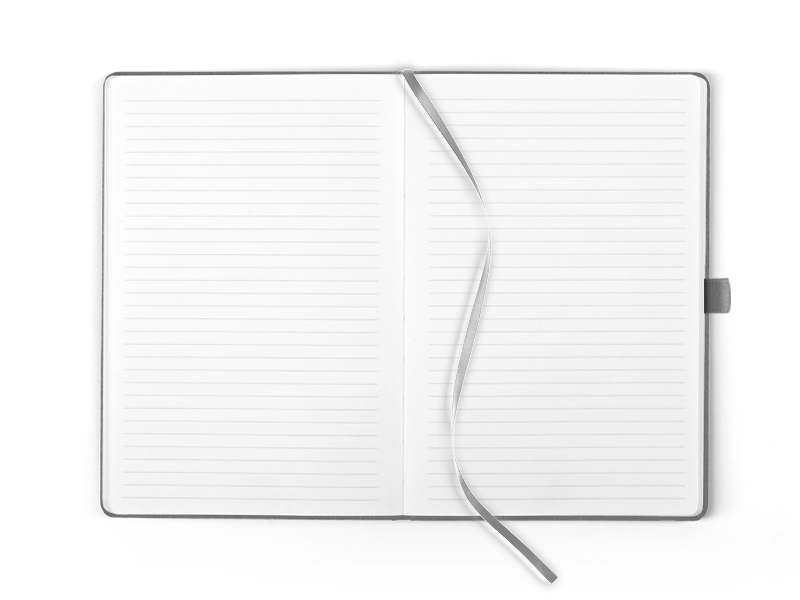 mondo notes a5 formata sivi makart