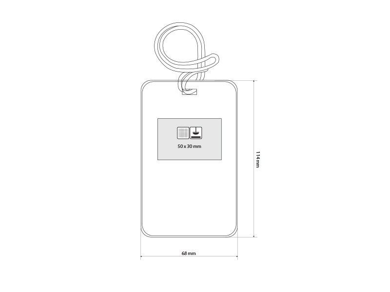 trotero identifikaciona kartica za putnu torbu crvena makart