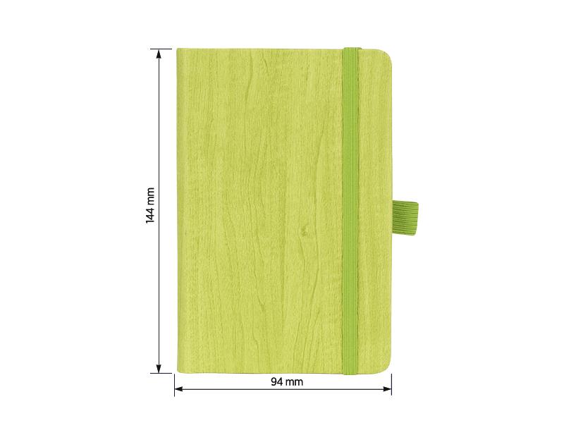 pino mini notes a6 formata svetlo zeleni makart