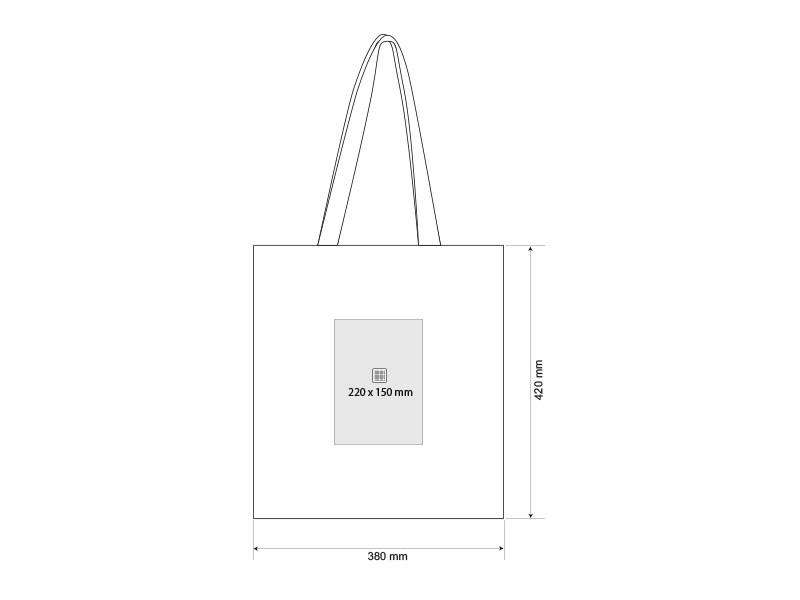 DOVE, pamučna torba, 130 g/m2, crna