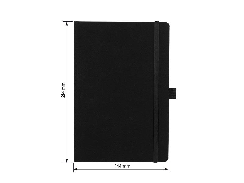 LIBRA, notes a5 formata, crni