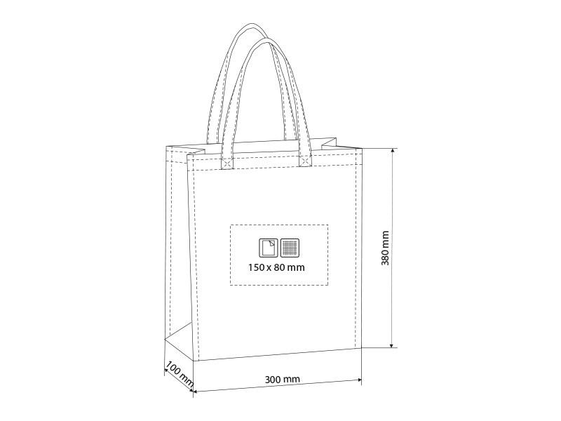 mercada biorazgradiva torba za kupovinu bela makart