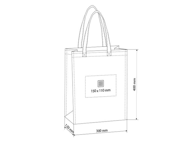 plaza biorazgradiva torba za kupovinu bela makart