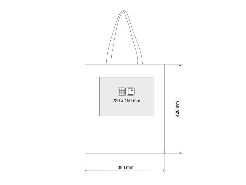 mall pamucna torba 130 g/m2 bez makart