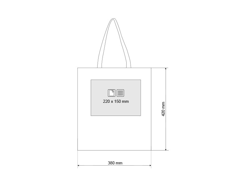 NATURELLA 220, pamučna torba, 220 g/m2, bež