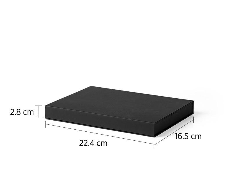 BOX A5, poklon kutija za notes, crna