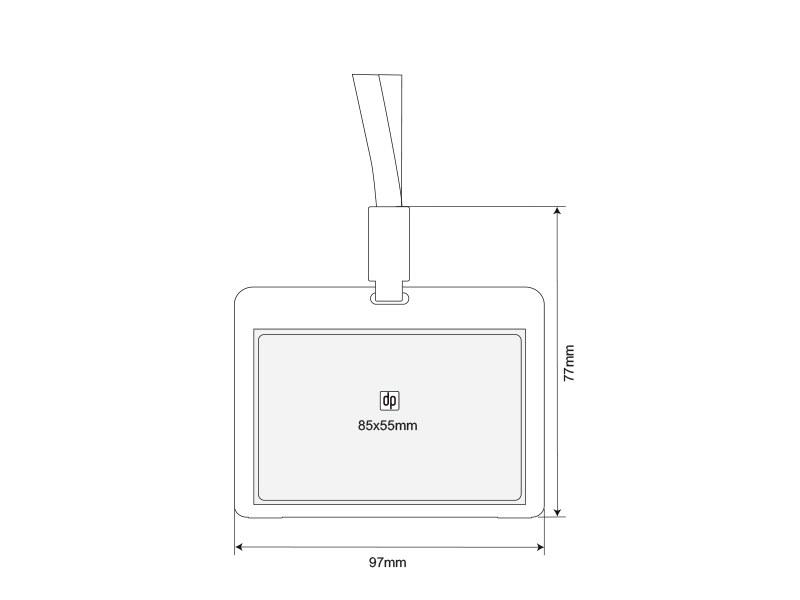 Plastični uložak za identifikacionu karticu sa trakicom