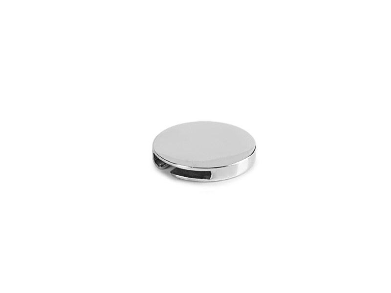 clip round metalna znacka za notese sjajno metalna makart