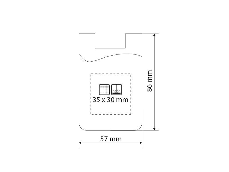 POCKET, silikonski držač kartica i držač za telefon, crni