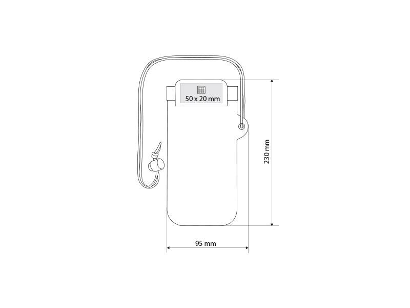 scuba futrola za mobinli telefon vodootporna bela makart