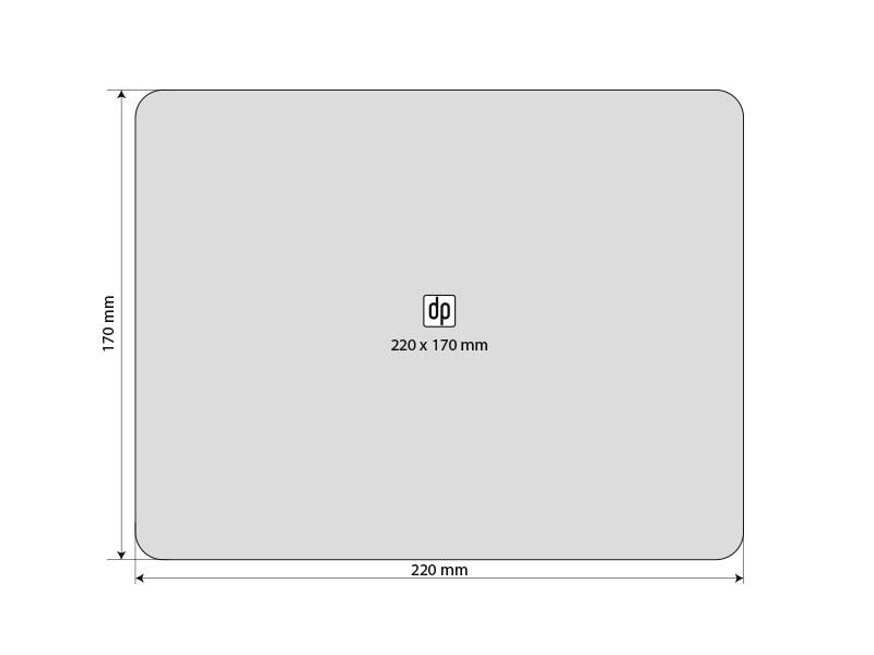 PURE PAD, mikrofiber podloga za kompjuterski miš 3 u 1, bela