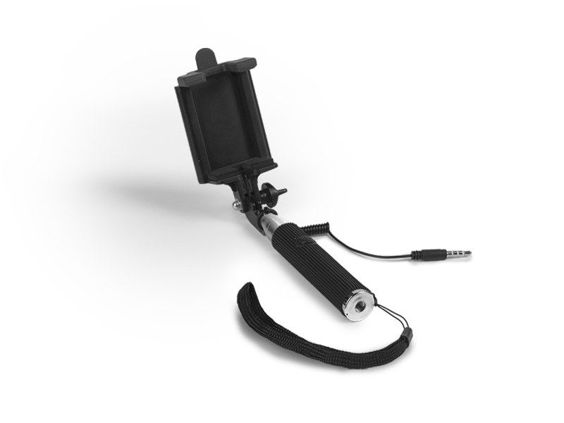 SELFIE MINI, pomoćni metalni držač za fotografisanje, crni