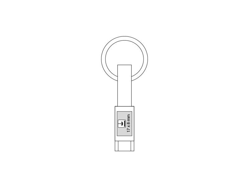 LINK C, usb kabl-privezak type-c, crni