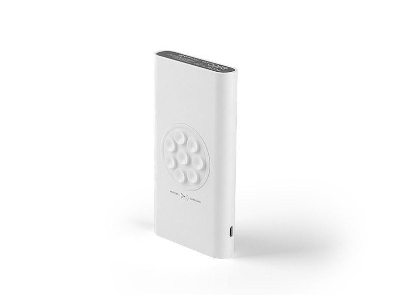 PULSE, pomoćna baterija kapaciteta 8000 mah, bežično punjenje, bela