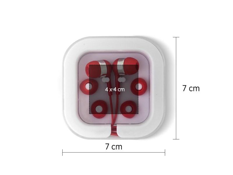 button slusalice za mobilne uredjaje crvena makart