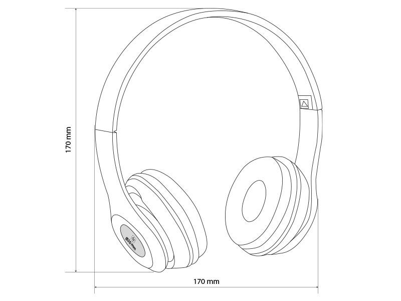 SOLO, sklopive bežične slušalice, crna