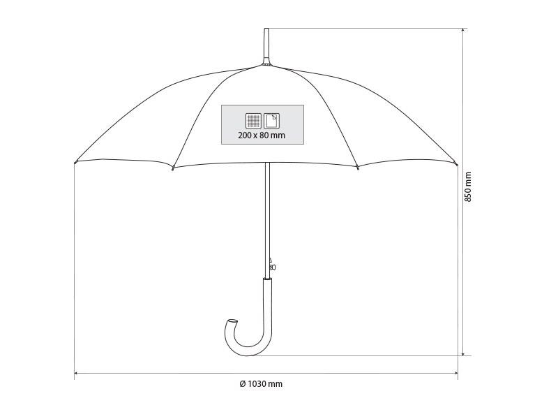 NIMBUS, kišobran sa automatskim otvaranjem, sivi