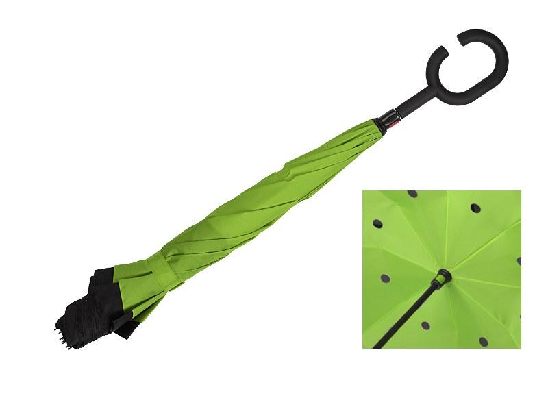 pampas kisobran sa dva lica i rucnim otvaranjem svetlo zeleni makart