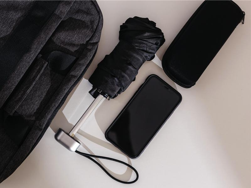 STERLING, sklopivi kišobran sa ručnim otvaranjem, u poklon kutiji, crni