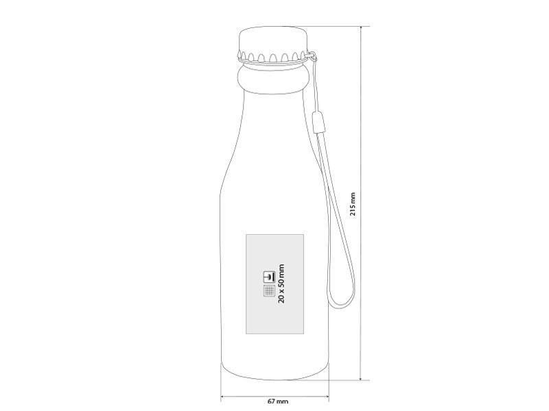 boca plasticna boca za vodu 500 ml svetlo zeleni makart