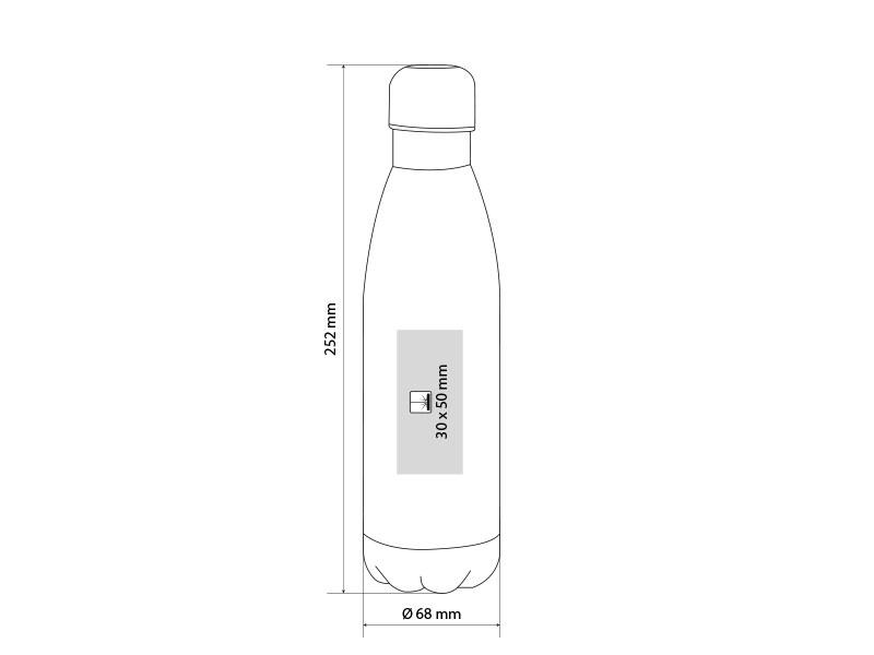 fluid metalni termos 500 ml crni makart
