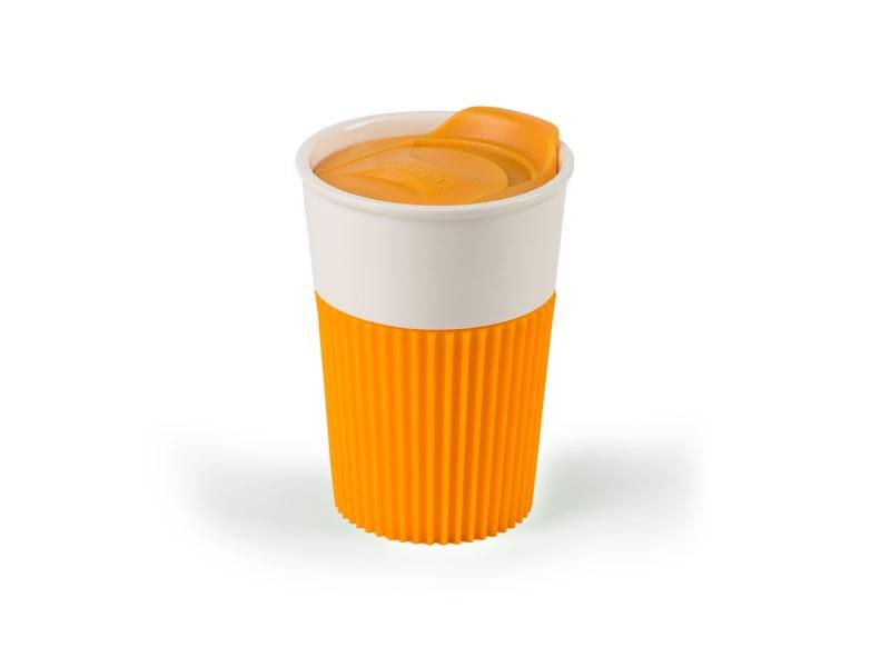 fratello porcelanska solja 350 ml narandzasta makart