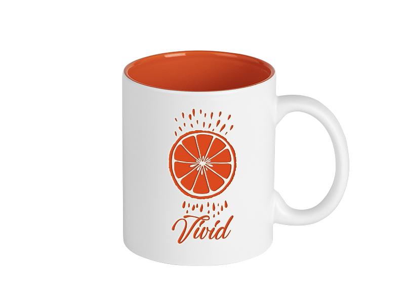 vivid keramicka solja 325 ml narandzasti makart