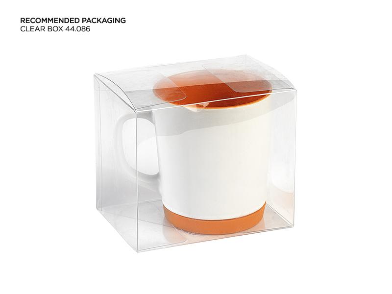 mint keramicka solja 300 ml narandzasta makart