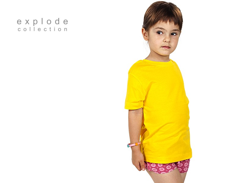 master kids decja pamucna majica zuta makart