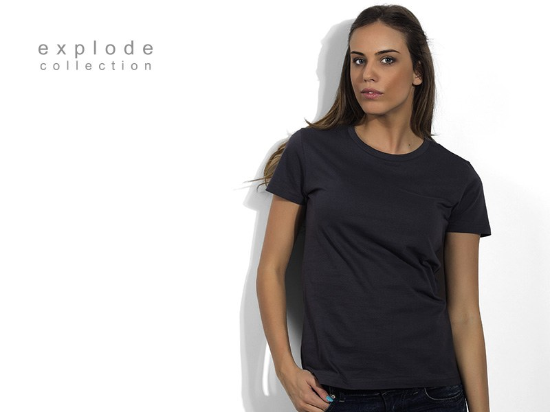 PREMIA, ženska pamučna majica, tamno siva