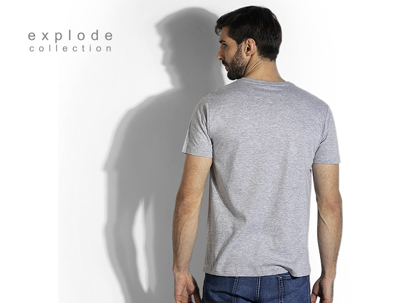 vasco pamucna majica sa v izrezom pepeljasta makart