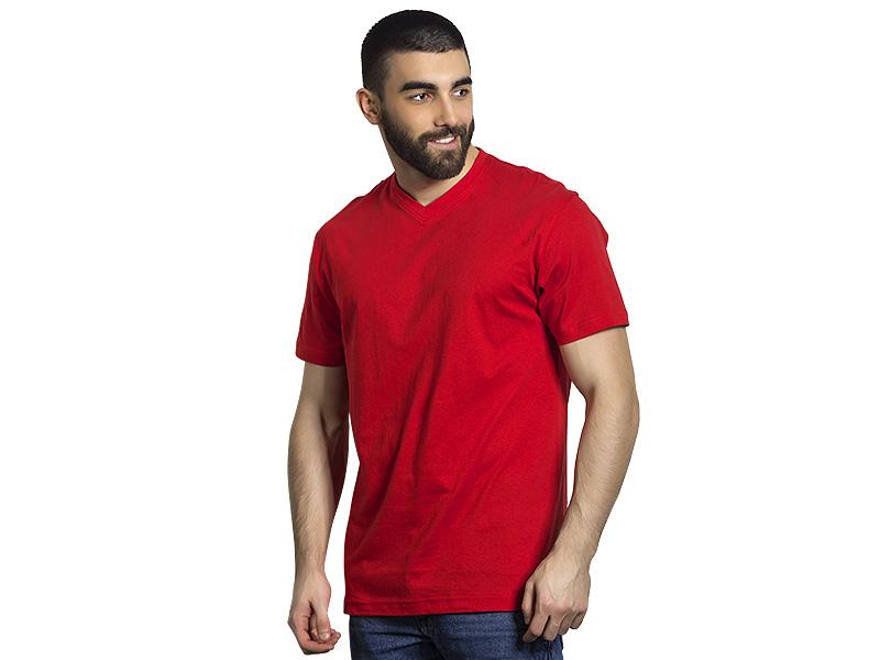 vasco pamucna majica sa v izrezom crvena makart