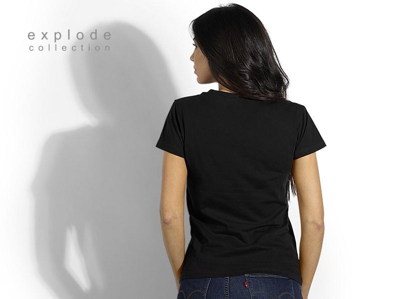 viola zenska pamucna majica sa v izrezom crni makart