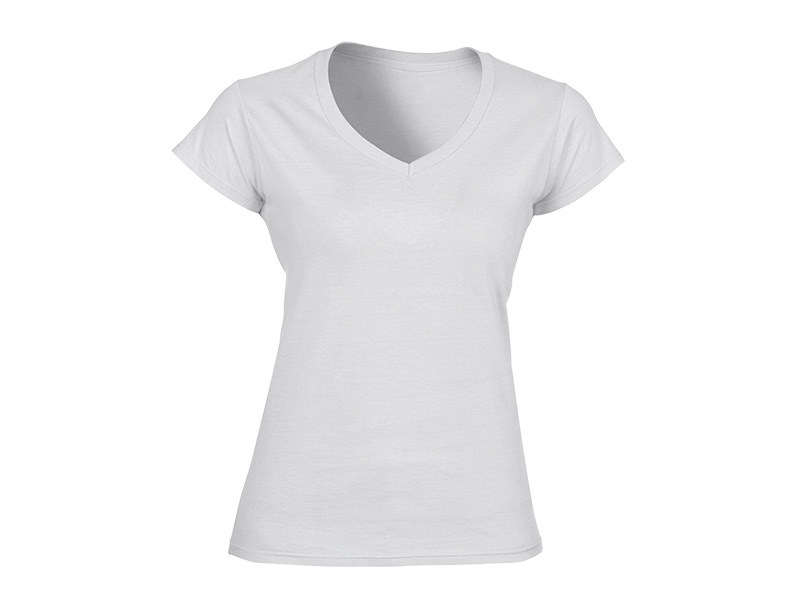 viola zenska pamucna majica sa v izrezom bela makart