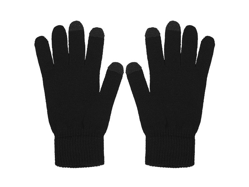 swipe rukavice sa tri aktivna touch prsta akril crni l/xl makart