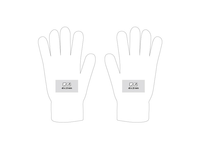 swipe rukavice sa tri aktivna touch prsta akril crveni l/xl makart