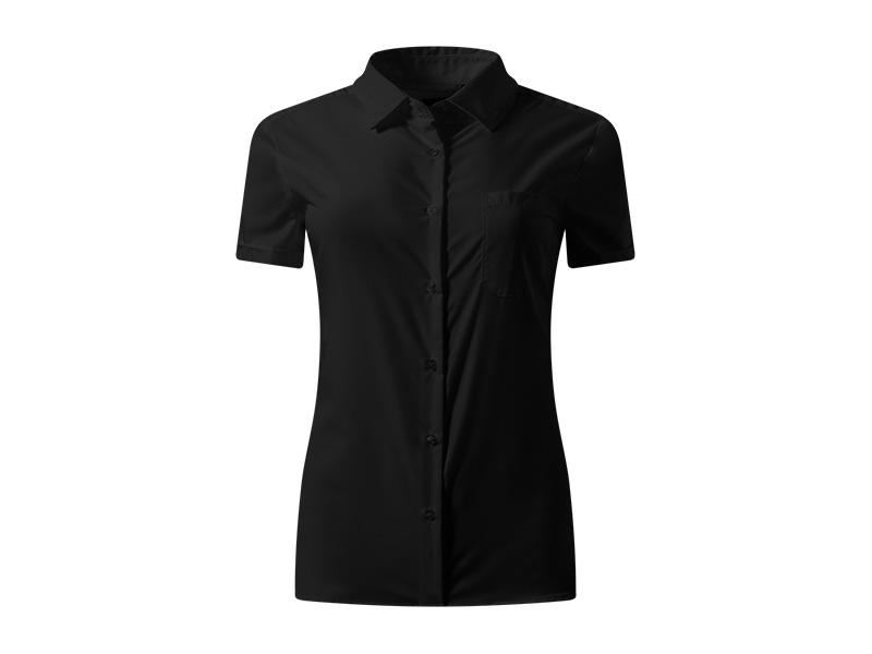 business ssl women zenska kosulja kratkih rukava crna makart