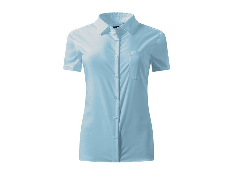 business ssl women zenska kosulja kratkih rukava svetlo plava makart
