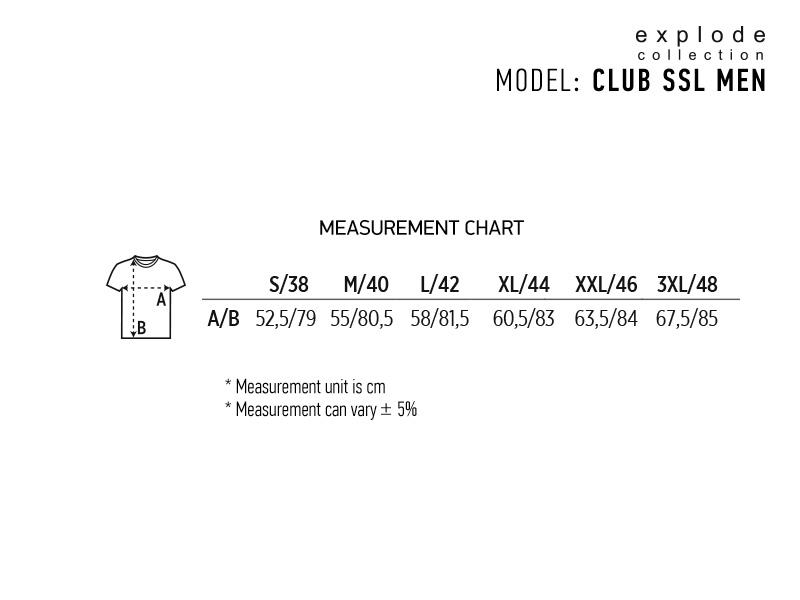 CLUB SSL MEN, muška košulja kratkikih rukava, crna